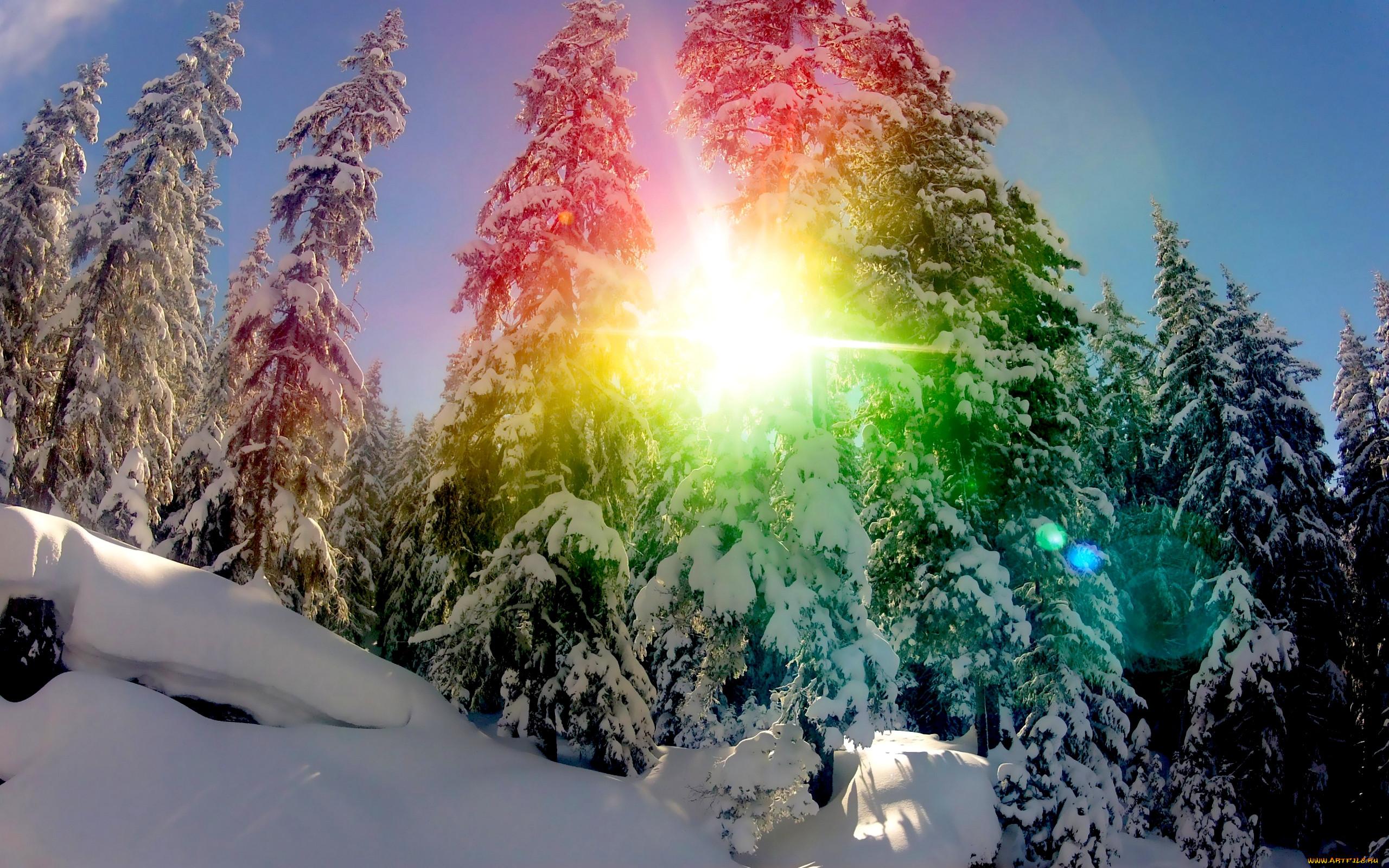 красивые картинки солнца и снега группе